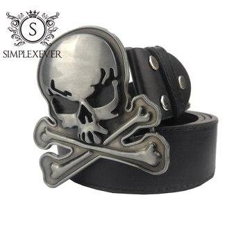 цена на Cross Skull Belt Buckle for Men Jeans Accessories Silver Metal Belt Buckle for 4cm Wide Belt Drop Shipping