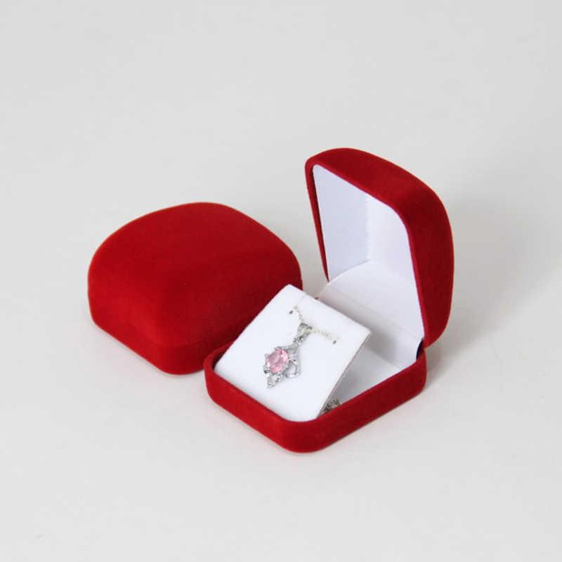 אחסון עגילי טיפת עגילי תליון ארגונית מקרה מאוד קטיפה קטן שרשרת תכשיטי תצוגת מתנת אריזת קופסות