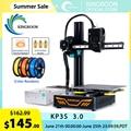 KINGROON KP3S 3D-принтер высокая точность печати Модернизированный DIY 3D принтер комплект сенсорный экран принтер размер 180*180*180 мм