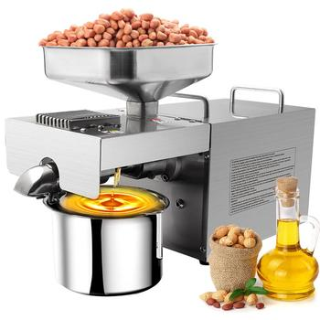 Automatic Oil Presser Expeller Hydraulic Press Peanut Flaxseed Olive Seed Oil Extractor Stainless Steel Bussiness Press Machine недорого
