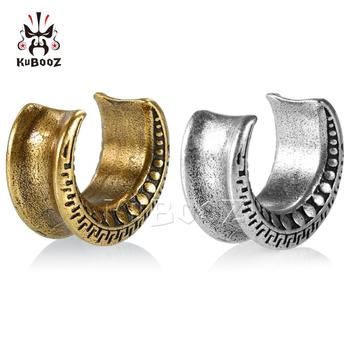 KUBOOZ Stainless Steel Ear Gauges Plugs and Tunnels for Ears Piercing Ring Expander Stretchers Fashion Body Piercing Jewelry