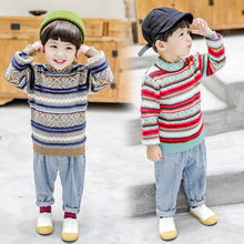 Baby Boy Sweater Pullover Cashmere Newborn Sweaters Retro Design Boys Jumper Knitted Tops High Quality Kids Knitwear