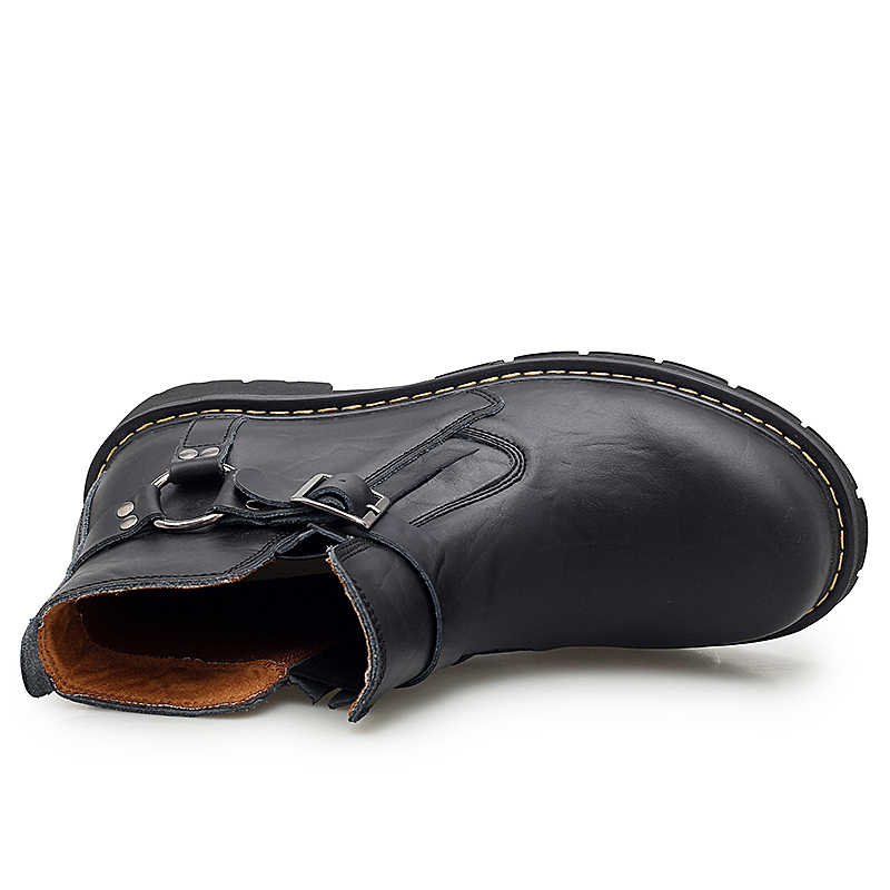 EU38-47 Nam Martin Brogue Giày Buộc Dây Khắc Mắt Cá Chân Ủng Nam Mùa Đông Ấm Giày Cao Trên Sa Mạc khởi Động Người Giày