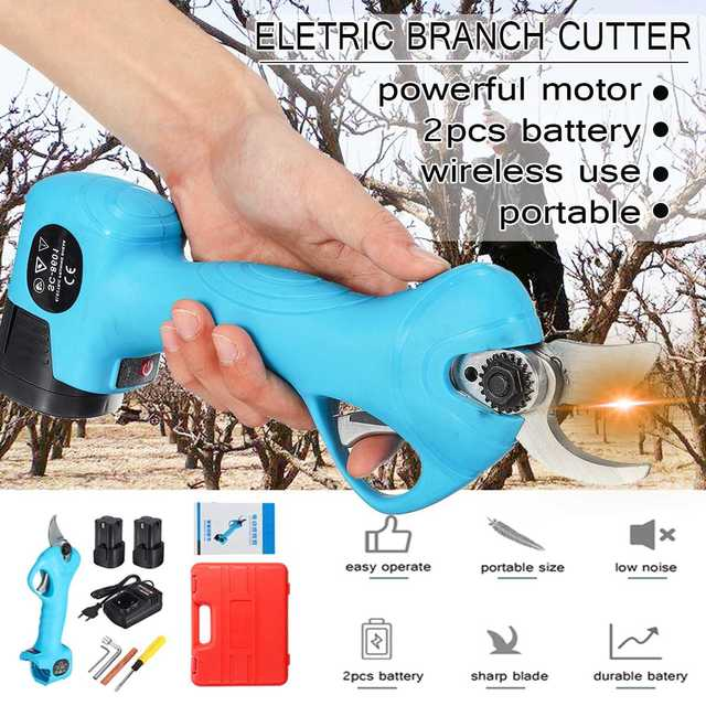 16.8V Cordless Electric Rechargeable Lithium Pruning Shears Secateur Branch Cutter Electric Fruit Pruning Tool Garden Pruner
