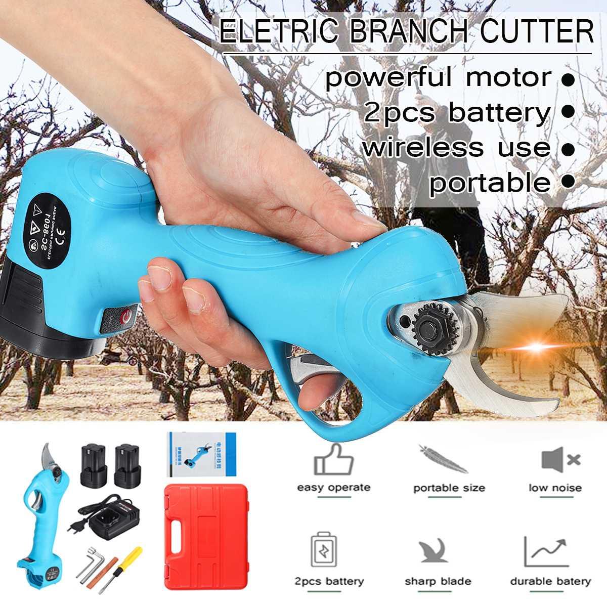 Sécateur électrique Rechargeable au Lithium sans fil 16.8V sécateur coupe-branche électrique outil d'élagage de fruits sécateur de jardin
