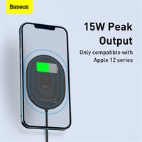 Baseus Light Magnetic Wireless Charger For iPhone 12 12Pro Max Portable Charger For iPhone 12 Mini Charging Fast Charger Pad