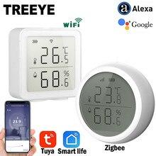 Thermomètre d'intérieur d'hygromètre de capteur de température et d'humidité de Zigee ou de WIFI de vie intelligente de Tuya avec l'affichage d'affichage à cristaux liquides
