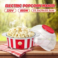 220V 850W Mini Electric Popcorn Maker Home Tabletop Party Movie Snack DIY Popcorn Makers Machine Household Kitchen Appliance