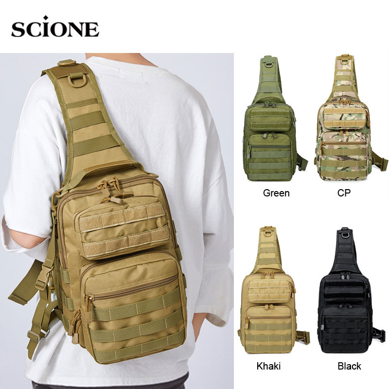 Tactical Chest Backpack Military Bag Hunting Fishing Bags Camping Hiking Army Hiking Backpacks Mochila Molle Shoulder Pack XA65AClimbing Bags   -