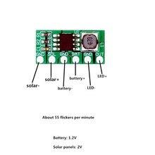 Солнечный контроллер ногтей. 1,2 в Солнечный контроллер сцинтилляционной лампы для ногтей. Контроллер светофора Предупреждение солнечных батареях