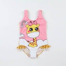 2019 в европейском и американском стиле Новый стиль Лидер продаж цельный купальный костюм для девочек Милая стильная футболка с