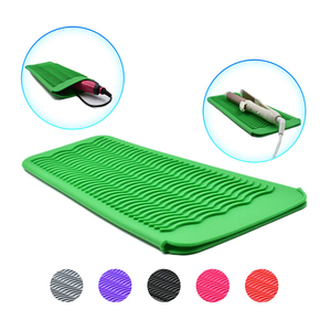 Image 5 - Silicone Heat Resistant Travel Mat Pouch for Curling Iron Hair Straightener Multi function Non slip Flat Iron Hair Styling Tool