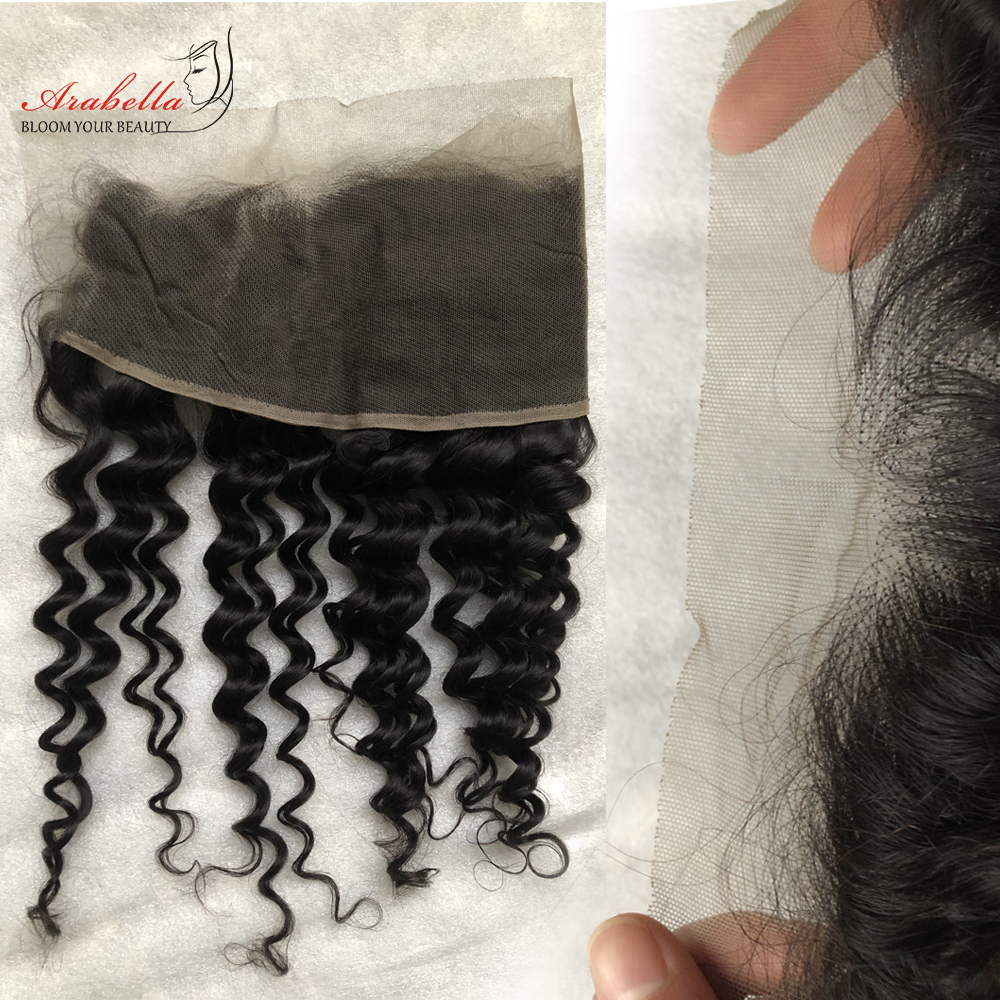 13x4 Lace Frontal Deep Wave Ear To Ear With Baby Hair  Arabella PrePlucked Bleached Knots Lace Frontal Closure 6