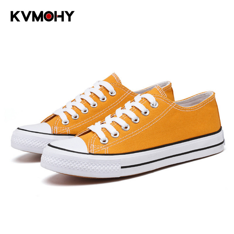 Vulcanize Shoes Woman Sneakers Fashion Canvas Shoes Men Trainers Women Ladies Yellow Red Shoe Tenis Feminino Zapatos Mujer