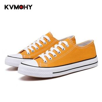 Vulcanize Shoes Woman Sneakers Fashion Canvas Shoes Men Trainers Women Ladies Yellow Red Shoe Tenis Feminino Zapatos Mujer