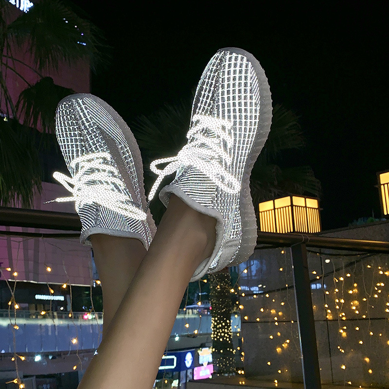 2019 Women Sneakers Mesh Breathable Running High Quality Zapatos De Mujer Fashion Flat Shoes Soft Sole Casual Sneakers 35-40