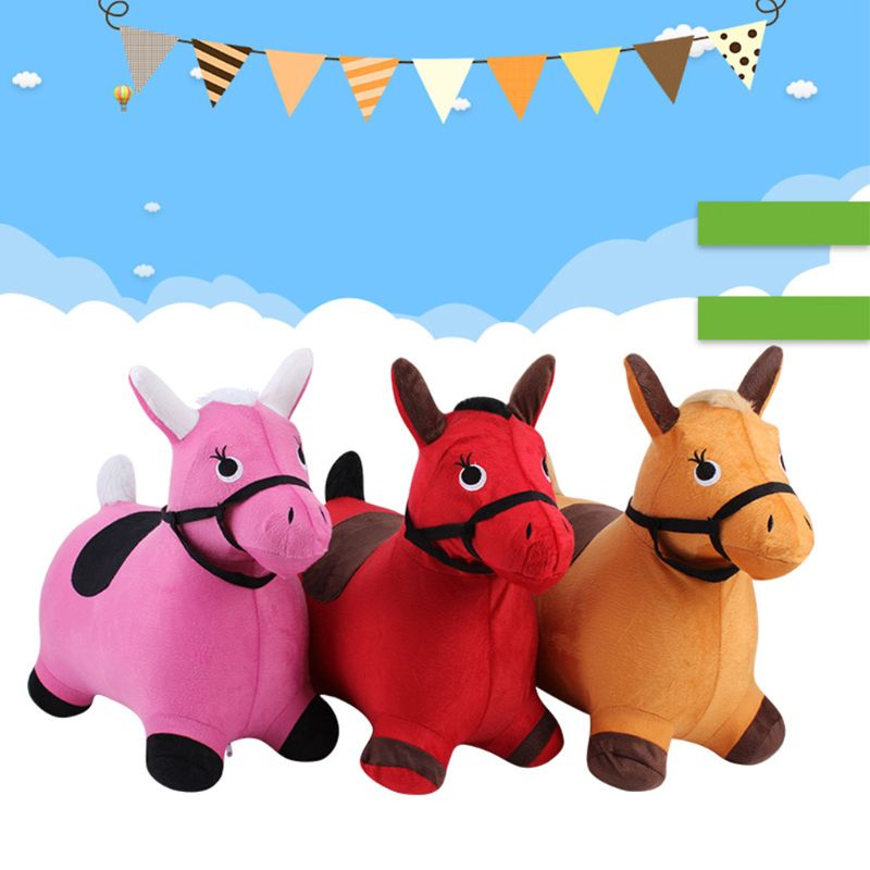 Bouncy Horse Hopper Outdoors Ride on Inflatable Animal Play Toys Gifts for Kids