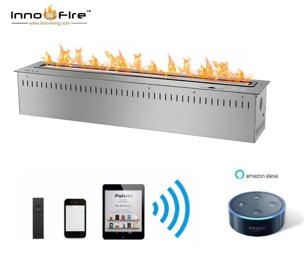 Inno Living Fire 36 Inch Luxury Fireplace App Control Smart Ethanol Burner Insert