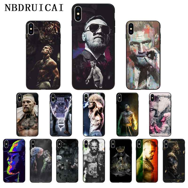 NBDRUICAI UFC Conor McGregor High Quality Phone Case for iPhone 11 pro XS MAX 8 7 6 6S Plus X 5 5S SE XR case
