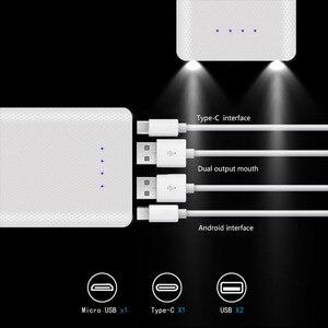 30000 мАч Micro type C с двумя usb-портами DIY power bank чехол 10*18650 Батарея цифровой дисплей внешний аккумулятор Комплект внешний зарядное устройство коро...