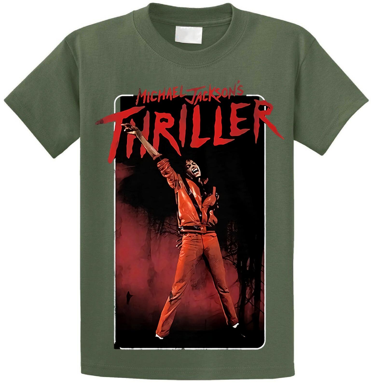 Michael Jackson Thriller Pose de danza offiziell de manera camiseta Herren hombres camiseta Camisa de algodón de manga corta Fitness camisetas