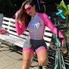 Xama ciclismo manga longa trisuit skinsuit feminino manga curta bicicleta wear macacão conjunto de roupas roadbike ciclo 13