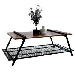 Retro stolik skandynawska minimalistyczna kreatywny salon netto czerwony kutego żelaza drewna kwadratowy japoński mały stolik kawowy