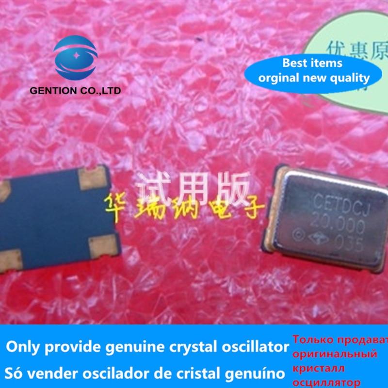 5pcs 100% Orginal New Crystal SMD 5X7 20M 20MHZ 20.000MHZ Active Chip Oscillator OSC