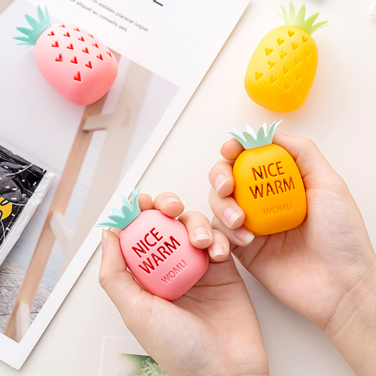Cute Safe Self-heating Stove Hand Warmer Egg Carrot Pineapple Shape Warm Paste Hand Egg Replacement Core