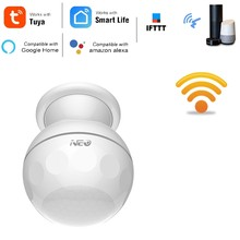 NAS-PD02W WIFI PIR Motion Sensor Detector Tuya Smart Life App Smart Home Automation Alarm System with Bracket(China)