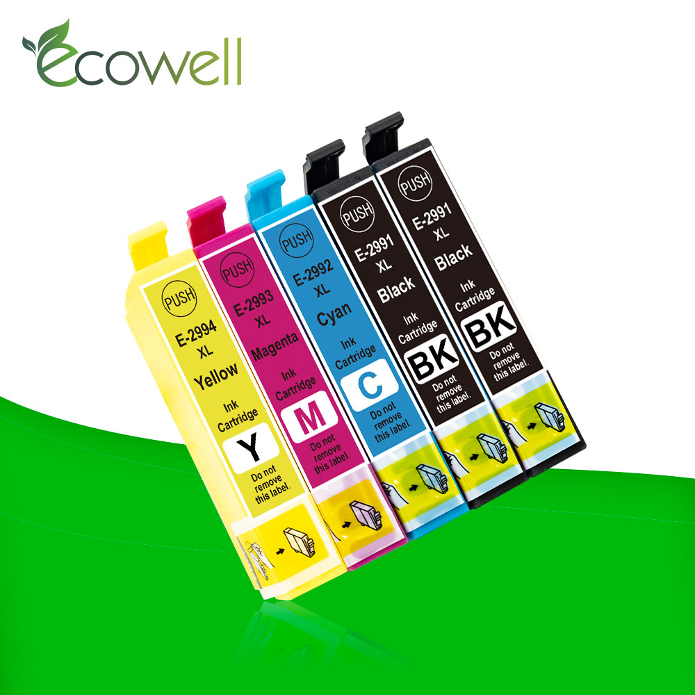 Ecowell 5x Compatible T2991XL T2991 T29XL ink cartridge replace for <font><b>Epson</b></font> XP335 XP342 <font><b>XP345</b></font> XP435 XP235 XP247 XP245 XP432 XP442 image