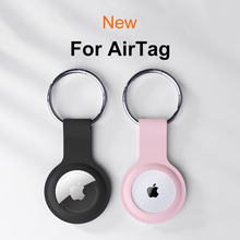 YTD Soft Liquid Silicone Protective Case For Airtags Cover Hangable Keychain Locator Tracker Cover For airtags Case