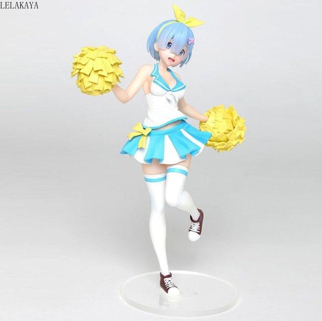 Anime Re la vie dans un monde différent de zéro mémoire neige Rem Cheerleaders Ver. Modèle de Collection de figurines en PVC jouets lelakaya