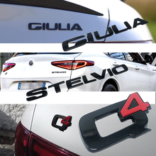 Adesivo decorativo per lettere di coda per auto adesivo decorativo per accessori di modifica Alfa Romeo Giulia Stelvio