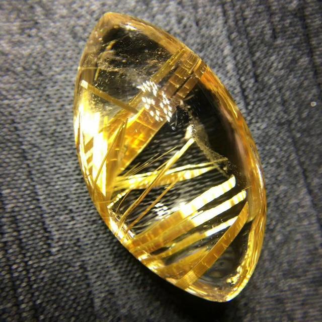 Natural Gold Rutilated Quartz Ball Sphere Neckalce Pendant 29x17x12mm Woman Man Love Wealthy Water Drop Gift Gemstone AAAAA