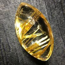 الذهب الطبيعي Rutilated كرة من الكوراتز المجال قلادة قلادة 29x17x12 مللي متر امرأة رجل الحب الغنية قطرة الماء هدية الأحجار الكريمة AAAAA