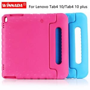 Image 1 - For Lenovo Tab4 10 TB X304F Case Kids Shockproof EVA Full Body Handle Cover For Lenovo Tab 4 10 PLUS TB X704F X704N 10.1 Fundas