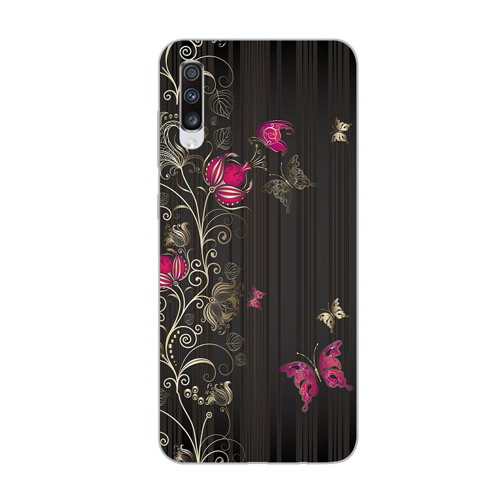 Image 5 - ciciber Phone Case for Samsung Galaxy A50 A70 A80 A40 A30 A20 A60 A10 A20e Soft Silicone TPU Flower Rose Vintage Cover Fundas-in Fitted Cases from Cellphones & Telecommunications