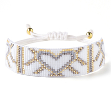 BLUESTAR Boho Lady MIYUKI Bead Bracelets Women Star Bangle Jewelry Handmade Braided Heart