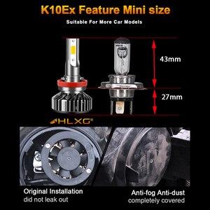 Image 3 - Lâmpada H7 HLXG Mini H4 luces LED Longe 12V 10000LM Acessórios Lâmpada Do Farol Do Carro 10000K 5000K 6000K 8000K H11 9005 HB3 9006 HB4 H8