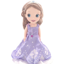 30cm Disney Princess Sofia Doll Movable girl doll PVC action figures Collectible model doll toys Surprise gift for children недорого