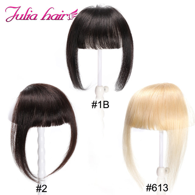 Ali Julia Air Bangs For Women Clip In Hair Extensions Brazilian Human Hair Bangs Remy Replacement Fringe Hairpiece (14)