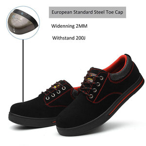Image 2 - SUADEEX Mens Safety Shoes Steel Toe Construction Protective Footwear Lightweight Shockproof Work Sneaker Shoes For Men Women