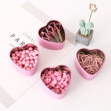 Милый розовый зажим для бумаги, нажимная доска, пробковый зажим для ногтей, скрепки для заметок, закладки для офиса, принадлежности