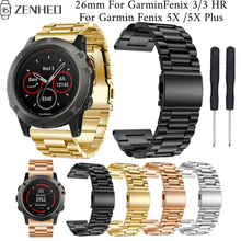 26mm Stainless Steel strap For Garmin Fenix 5X/5X Plus frontier/classic bracelet For Garmin Fenix 3/3 HR Smart Watch band цена