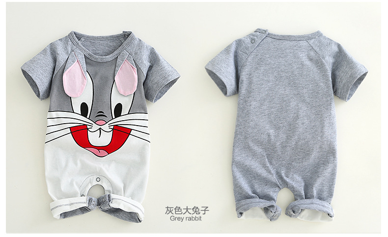 H44a00bf785784a89a01cd5be96eb77b1H Newborn baby cotton rompers lovely Rabbit ears baby boy girls short sleeve baby costume Jumpsuits Roupas Bebes Infant Clothes