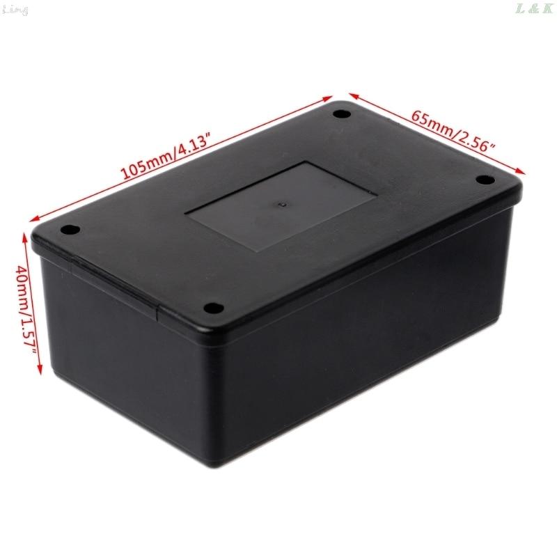 Waterdichte Abs Plastic Elektronische Behuizing Project Box Case Black 105X64X40 Mm