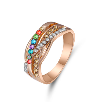 Women's Ring Color Zircon Geometric Gold Color Fashion Ring Customized Ring For Women Banquet Engagement Engagement Girlfriend 1