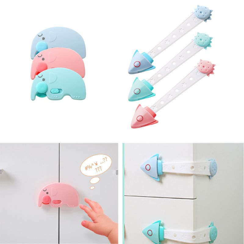 3pcs/lot Cabinet Door Drawers Refrigerator Toilet Baby Safety Locks For Kids Baby Locks For Children Kids Baby Safety Locks 72XC