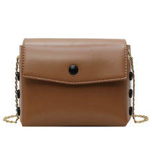 Fashion Female Shoulder Bag Waterproof Young woman PU Leather Simple Chain Small Shopping Daily Yellow